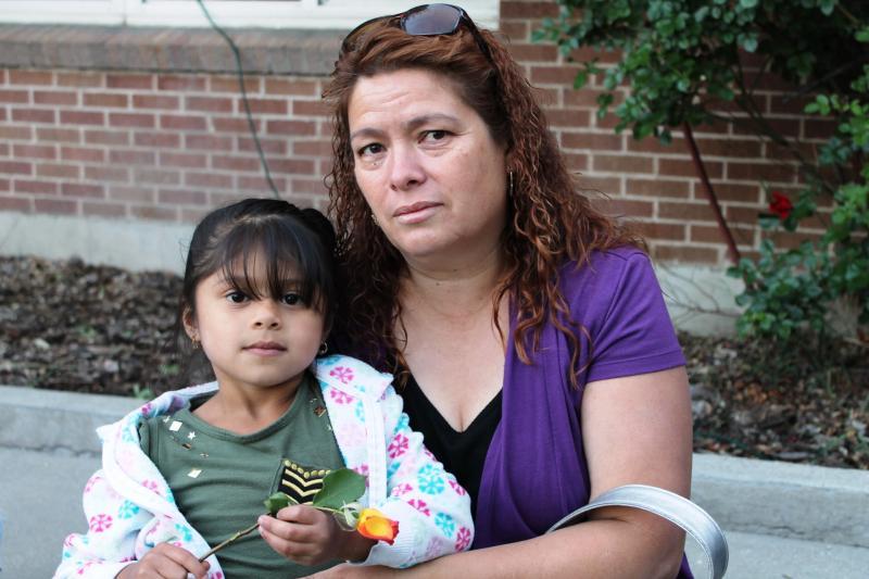 Yolanda Guzman is taking care of her granddaughter, after her daughter Brenda Guzman-Sandoval was deported.