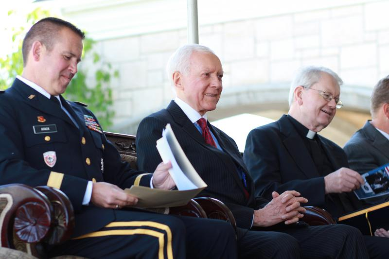 Brigadier General Dallen Atack, Sen. Orrin Hatch