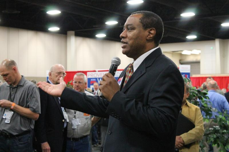 James Evans was elected Chairman of the Utah Republican Party on Saturday.  He is the state GOP's first African-American leader.