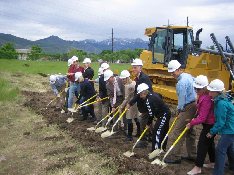 Trustees of the private Rowland Hall school break ground for new athletic fields