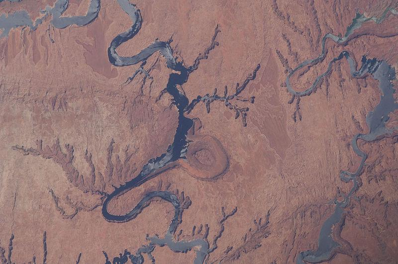 Lake Powell and the Colorado River from space