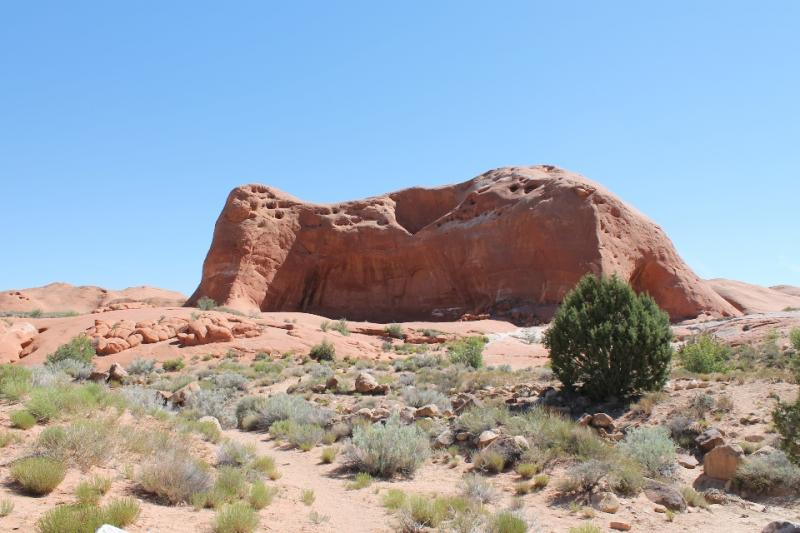 Dance Hall Rock, where the San Juan County pioneers of 1880 enjoyed dances on their way to Hole-in-the-Rock