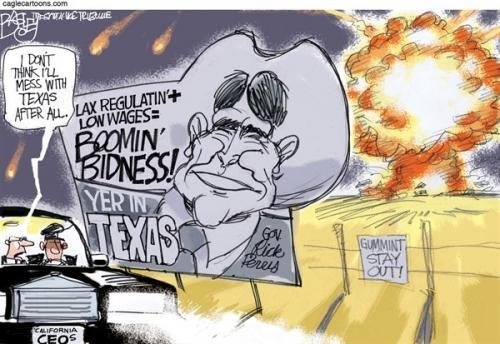 Pat Bagley's take on the fertilizer plant explosion in West, Texas