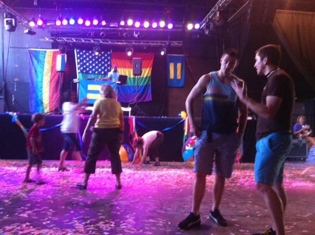 Supporters of marriage equality celebrated at Club Sound in Salt Lake City after Wednesday's Supreme Court decisions