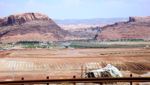 The Atlas Mill tailings cleanup site in Moab, UT