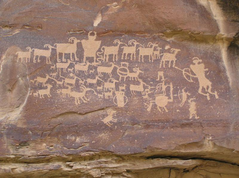 Petroglyphs in Nine-Mile Canyon, Utah