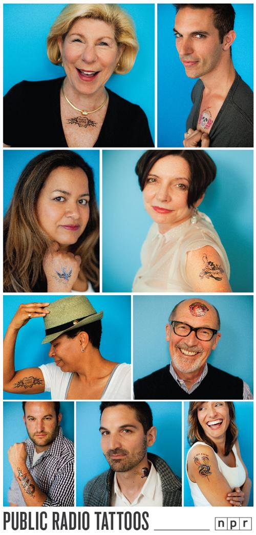 NPR Hosts Wear Public Radio Tattoos