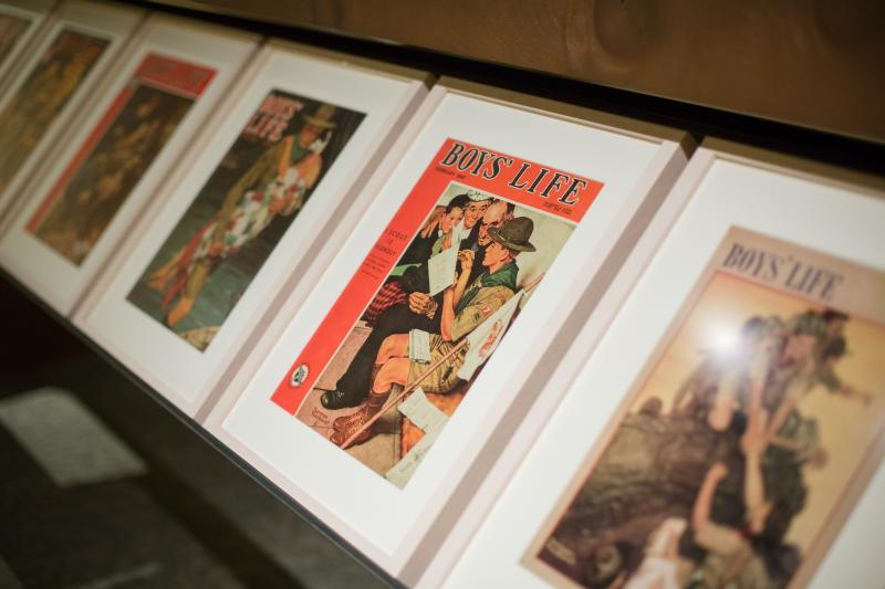 Boys Life Illustrations by Norman Rockwell on display at the LDS Church Museum