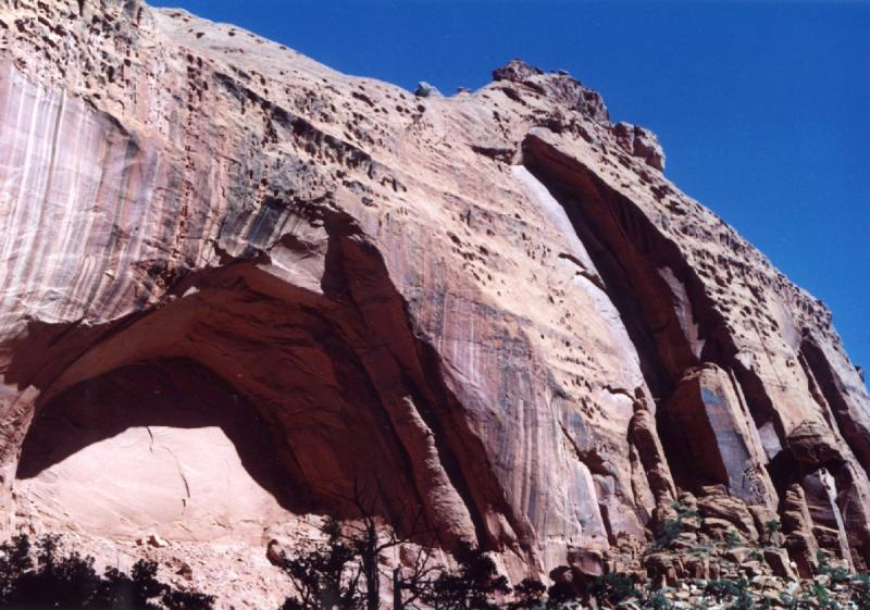 Rock formation in The Gorge along the Burr Trail on BLM land in Garfield County, UT