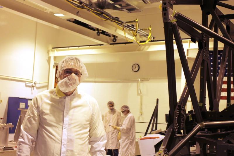 KUER's Dan Bammes visits the clean room at ATK Space Systems in West Valley City, Utah