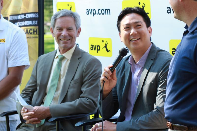 Salt Lake City Mayor Ralph Becker and AVP Managing Partner Donald Sun
