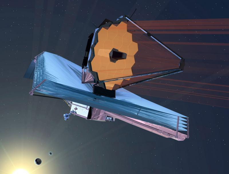 Artist's conception of the James Webb Space Telescope in operation