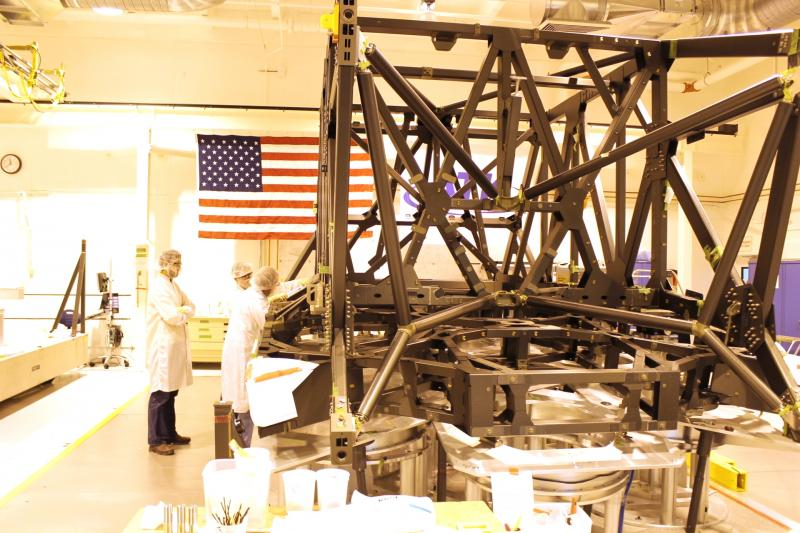 Carbon fiber composite structure built for the James Webb Space Telescope at ATK Space Systems in West Valley City, Utah