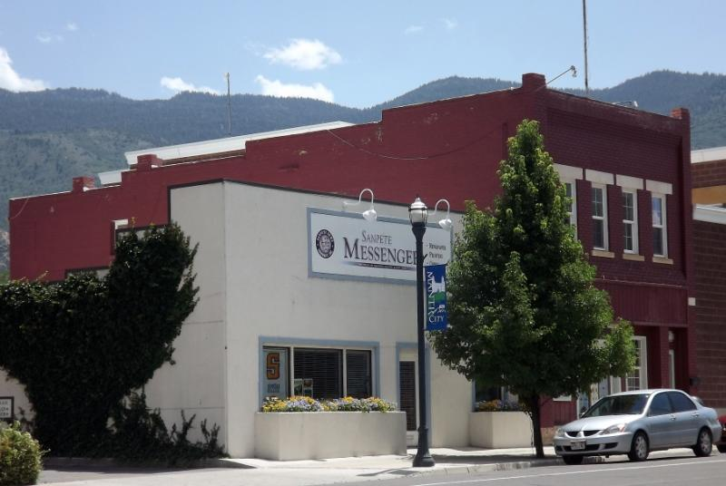 The Sanpete Messenger office in Manti, Utah