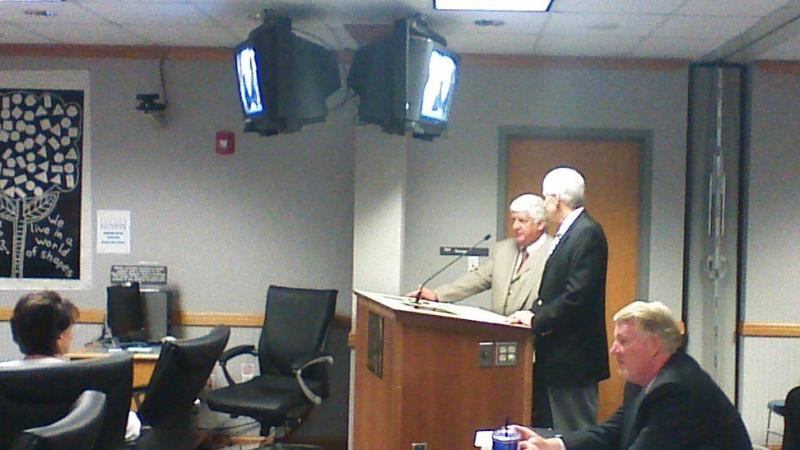 Congressman Rob Bishop (R-UT1) and Lieutenant Governor Greg Bell speak to the Utah State Board of Education