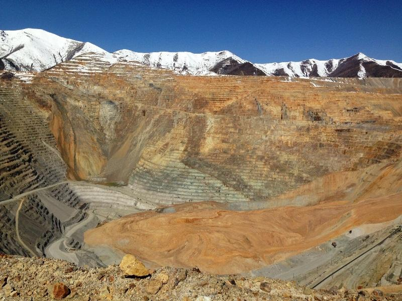 Kennecott's Bingham Canyon copper mine after a massive landslide in April, 2013