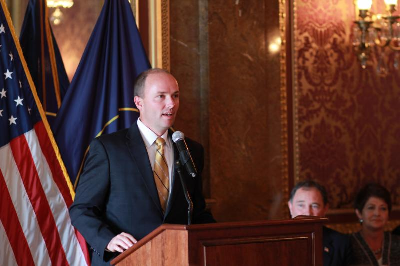 Rep. Spencer Cox, R-Fairview, accepts the nomination to be Lt. Governor