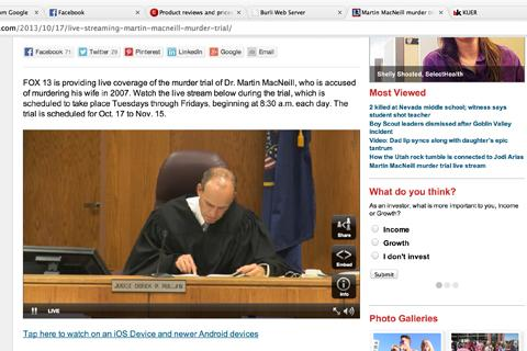 Local media live streams the murder trial of Martin MacNeill