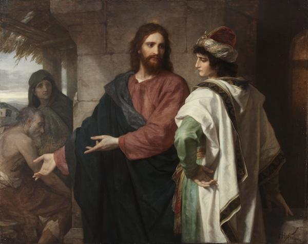 Christ and the Rich Young Ruler by Heinrich Hoffman