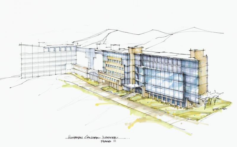 Rendering sketch for The Primary Children's & Families' Cancer Research Center