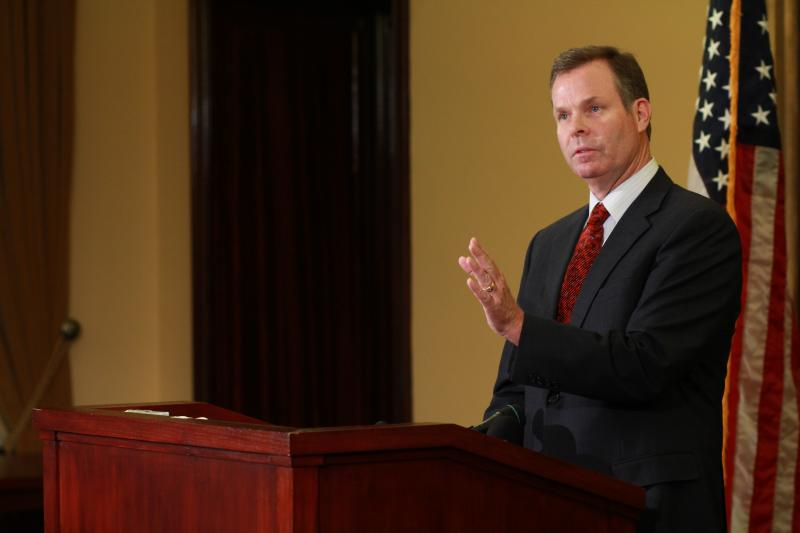 Utah Attorney General John Swallow announces his resignation at the Utah State Capitol