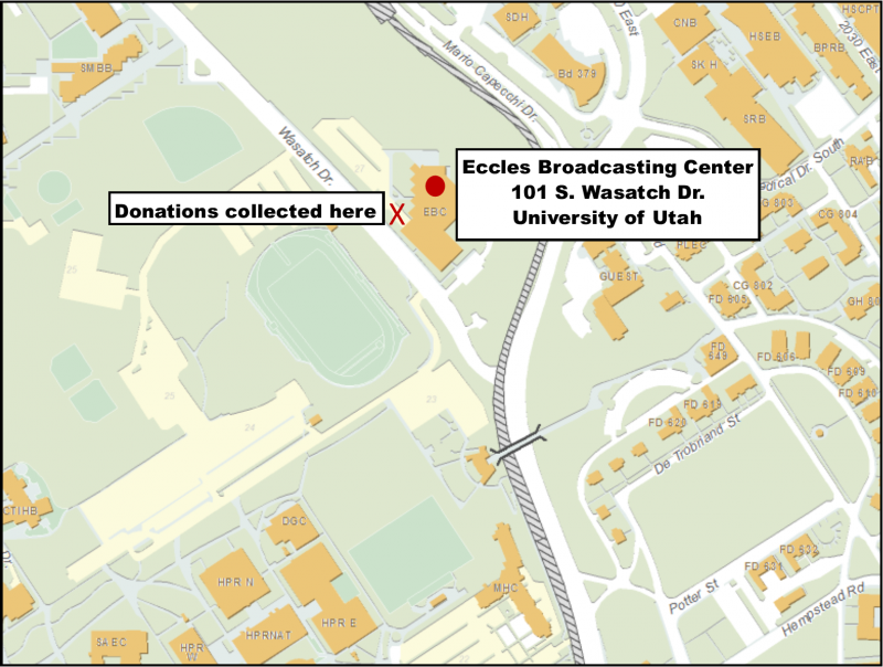 Map of Eccles Broadcasting Center