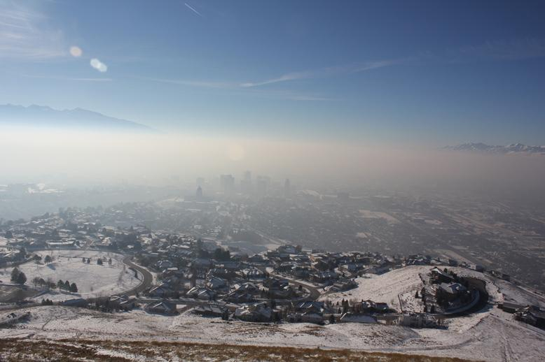 Winter air pollution blankets Salt Lake City