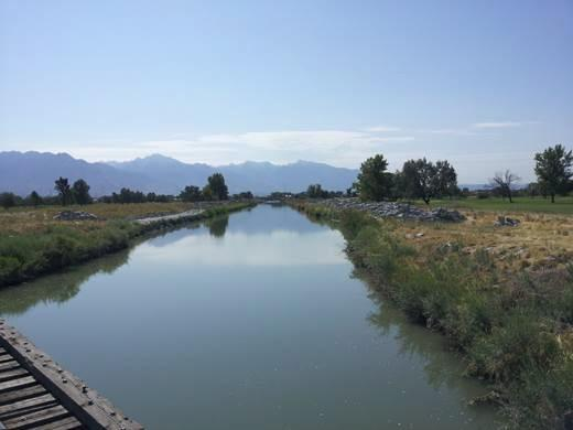 The Jordan River Surplus Canal in Salt Lake City