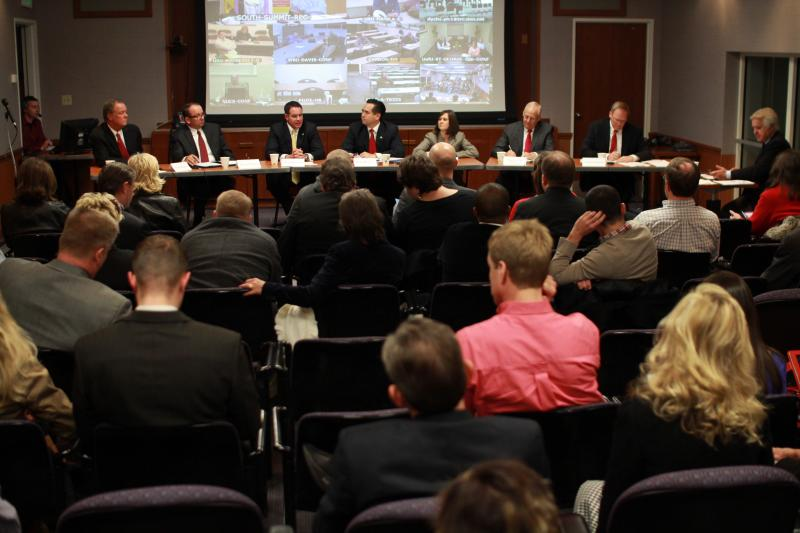 Candidates to replace Former Attorney General John Swallow debate using UEN's video conferencing infrastructure.