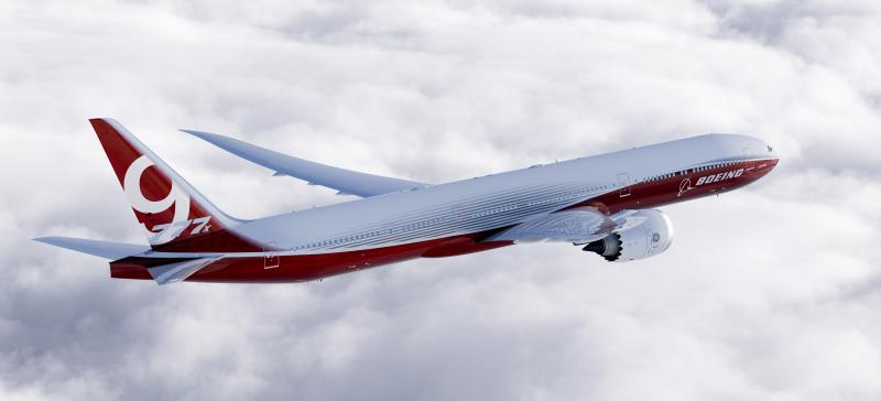 Rendering of the 777X