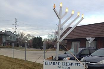 The damaged menorah at the Chabad Lubavitch synagogue has now been repaired.