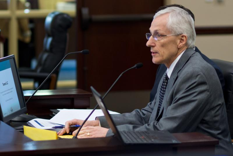 USTAR Governing Authority Chairman Greg Bell testifies before the Business, Economic Development, and Labor Appropriations Subcommittee