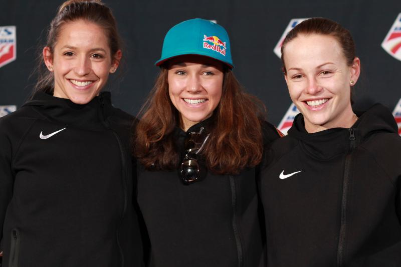 Jessica Jerome, Sarah Hendrickson, and Lindsey Van will be the first three U.S. women to compete at the Olympics in ski jumping.