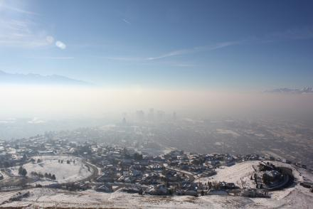 inversion over salt lake valley.