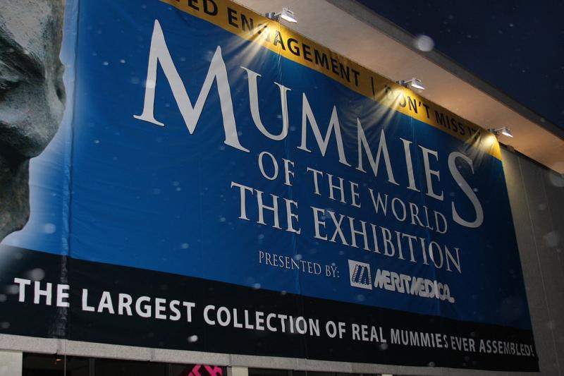 The Mummies of the World Exhibit at The Leonardo