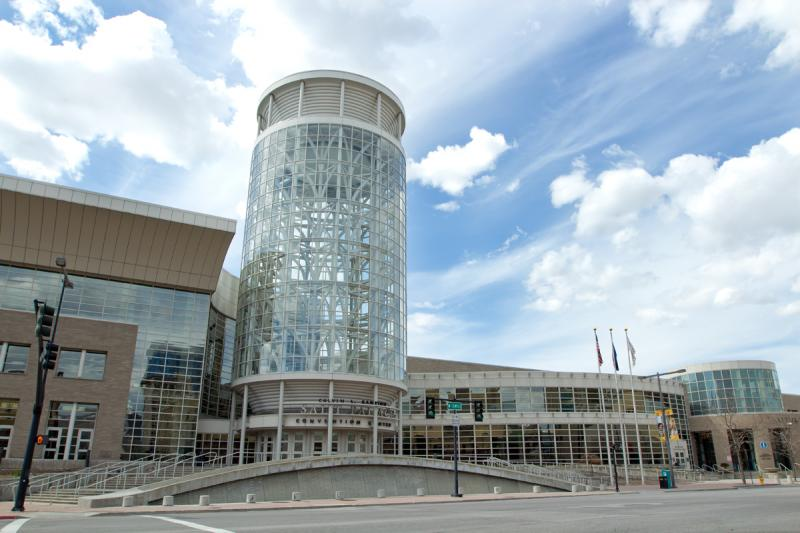 File: Salt Palace Convention Center in downtown Salt Lake City