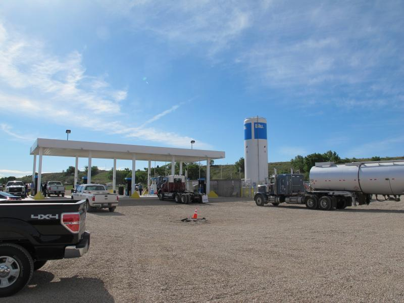 Compressed natural gas fueling station in Myton, Utah