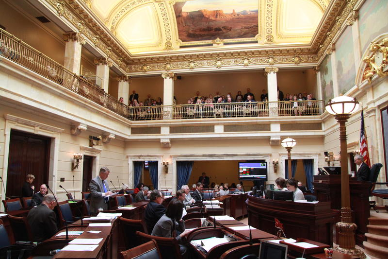 The floor of the Utah Senate