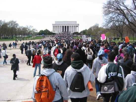 Affirmative action demonstration outside the U.S. Supreme Court in 2003
