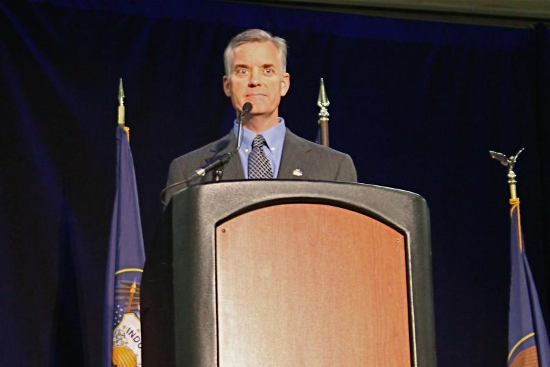 Peter Corroon addresses the Utah Democratic Convention. (April 26, 2014)