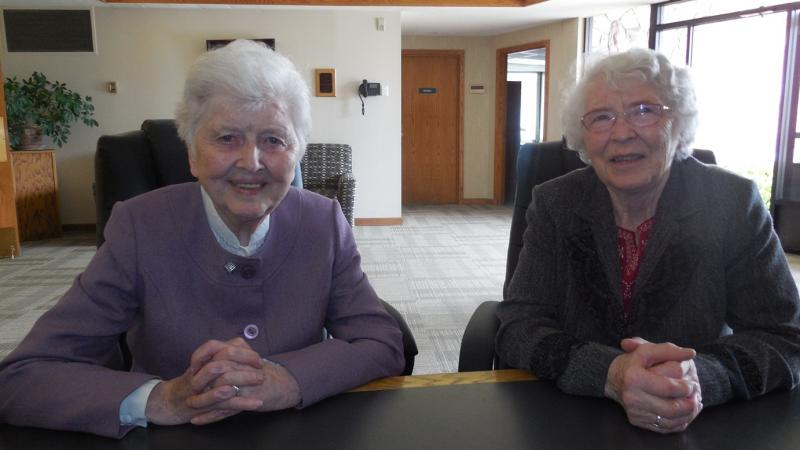 Sister Lelia O'Sullivan and Sister Mary Casey were among the first teachers at St. Vincent de Paul Catholic School in Holladay when it opened 50 years ago.