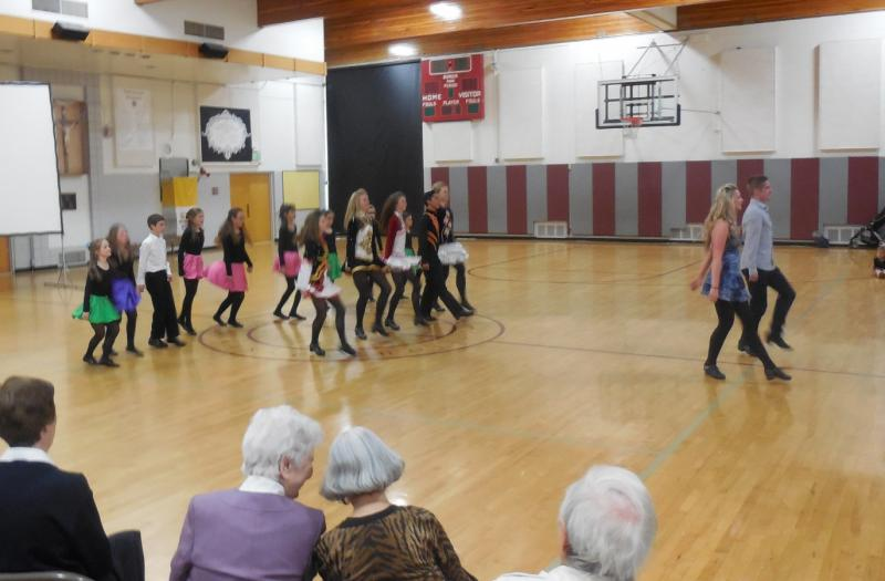 Irish dancers were part of the 50th anniversary celebration at St. Vincent de Paul Catholic School