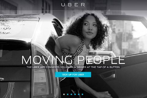 Uber.com Homepage