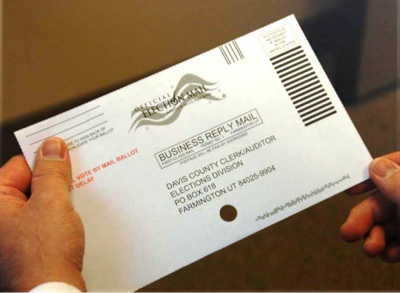 Davis County plans to conduct the 2014 primary and general elections using mail-in ballots like this one.
