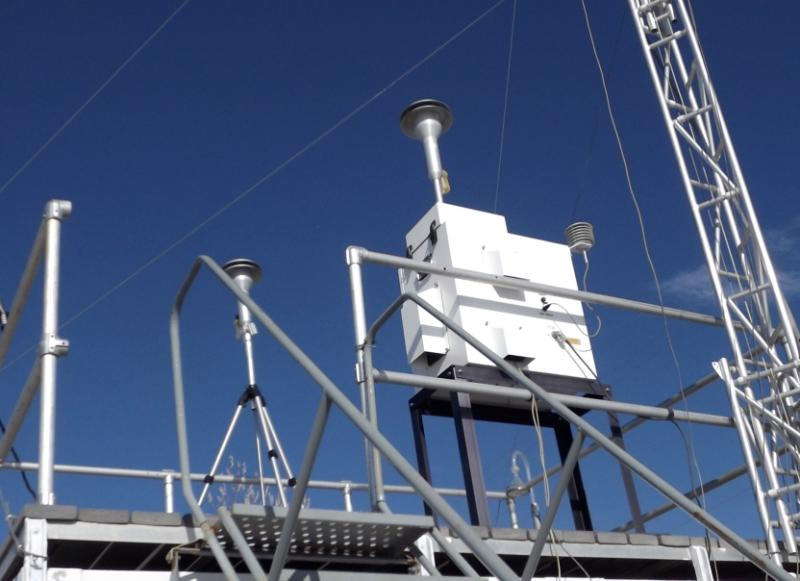 The Utah Division of Air Quality's monitoring station in Vernal, Utah