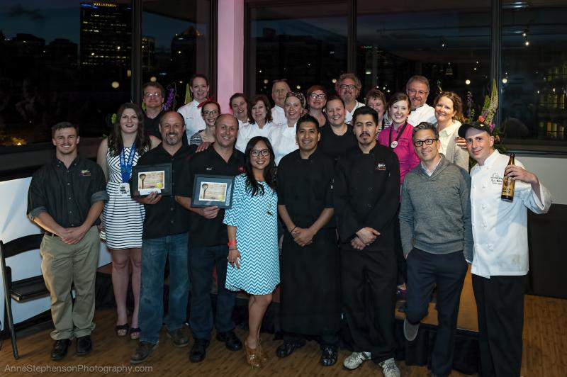 Chefs with Celebrity Judges at Savory Salt Lake