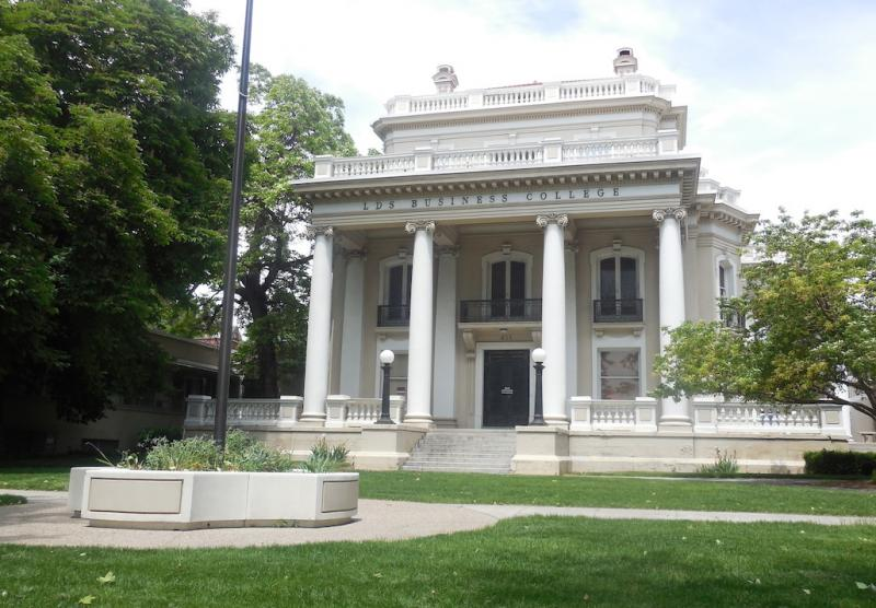The historic Wall Mansion at 411 E South Temple in Salt Lake City