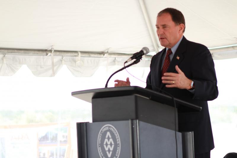 Gov. Gary Herbert at the groundbreaking ceremony for a new 2.3 million square foot industrial storage and distribution center.