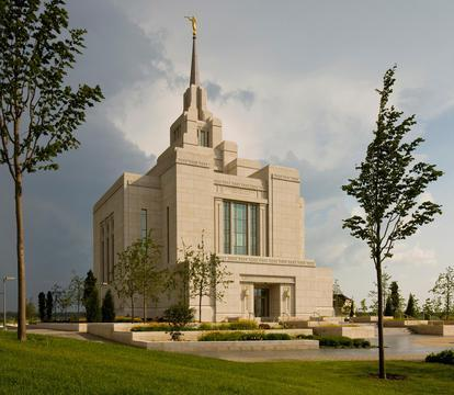 The Mormon temple in Kiev, Ukraine was built in 2010