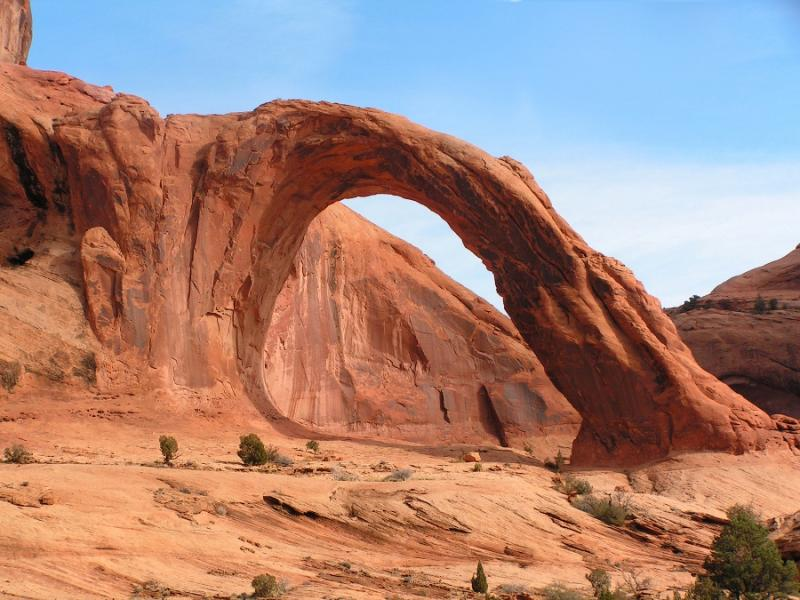 Corona Arch near Moab is in one of the parcels traded to the BLM by the state of Utah